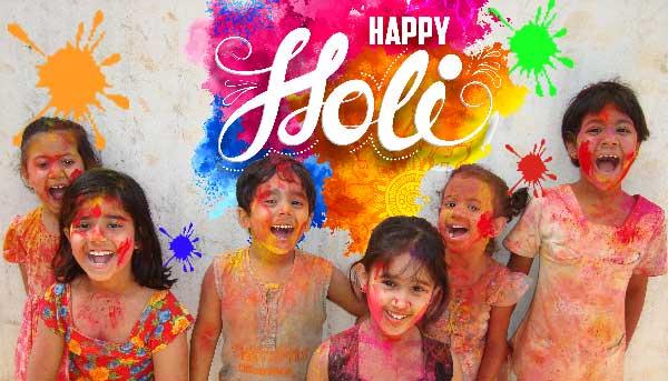 Colourful Hindu babies